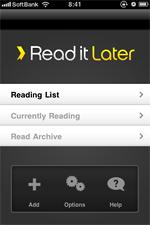 Read it Later x iPhone公式アプリ x Readmineで、後で読みまくる