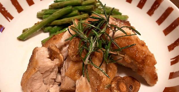 いつか作った鶏もも肉のガーリックソテー