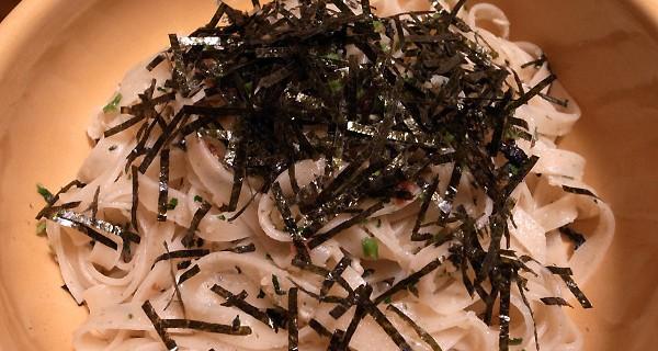 青梅の半生梅パスタと梅ちりめんで作る、簡単和風梅ぇパスタ