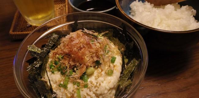 自作麺つゆで豆腐ぶっかけ丼
