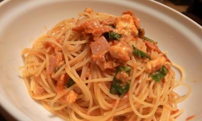 モッツァレラとバジルの冷製トマトソースパスタリベンジ